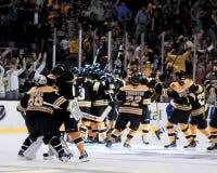 Vittoria di Bruins!! Fotografie Stock Libere da Diritti