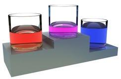 Vittoria liquida di colore Fotografia Stock