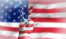 Vittoria per gli S.U.A. Immagini Stock
