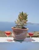 Vittoria rossa di Santorini Fotografie Stock Libere da Diritti