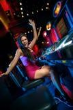 Vittoria sullo slot machine Fotografia Stock Libera da Diritti