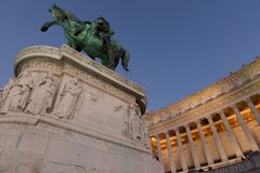 Vittoriale в аркаде Venezia Стоковое Изображение