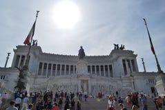 Vittoriale dans le venezia de place à Rome en septembre Photographie stock