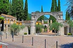 Vittoriale degli Italiani in Gardone Riviera town Italy stock images