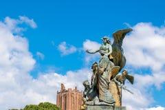 Vittoriano宫殿雕象维托里奥・埃曼努埃莱・迪・萨伏伊纪念碑的,阿尔塔雷della帕特里亚,威尼斯广场,罗马意大利 免版税库存照片