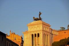 Vittoriano с светом захода солнца Стоковая Фотография
