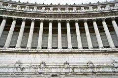 Vittoriano. Classic marble colonnade in Rome Royalty Free Stock Image