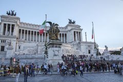 Vittoriano budynek na piazza Venezia w Rzym Obrazy Stock