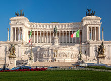 Vittoriano building on the Piazza Venezia in Rome, Italy Stock Photos
