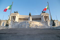 Vittoriano dans Piazza Venezia à Rome, Italie Photographie stock libre de droits