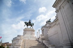 Vittoriano dans Piazza Venezia à Rome, Italie Images libres de droits