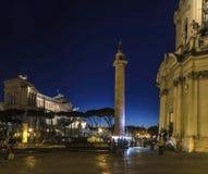 Vittoriano di Roma di notte Immagini Stock Libere da Diritti