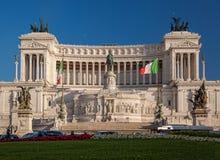 Vittoriano die op Piazza Venezia in Rome, Italië voortbouwen Stock Afbeelding