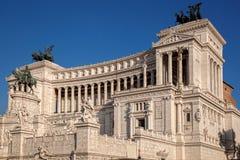 Vittoriano die op Piazza Venezia in Rome, Italië voortbouwen Stock Foto