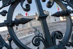 Vittoriano e Milite Ignoto. Piazza Venezia. Roma Fotografia Stock Libera da Diritti