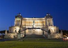 Vittoriano - een monument in eer eerste koning United Italy Victor Emmanuel II vroeg in de ochtend royalty-vrije stock fotografie