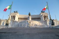 Vittoriano en la plaza Venezia en Roma, Italia fotografía de archivo libre de regalías