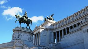 Vittoriano. Horse at the Tomb of the unknown soldier Royalty Free Stock Photography