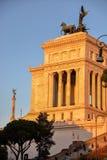 Vittoriano med solnedgångljus royaltyfri bild