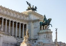 Vittoriano memorial complex royalty free stock images