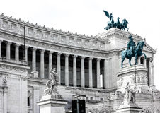 Vittoriano monument in Rome, Italy. Side view, close-up Royalty Free Stock Photography