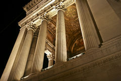 Vittoriano in the night. Classic marble colonnade in Rome Stock Photos