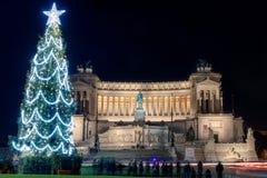 Vittoriano oder Altar des Vaterlands im Weihnachtszeitraum Lizenzfreie Stockbilder