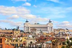 Vittoriano ou autel de la patrie, Rome, vue aérienne de villa Borghese photo libre de droits