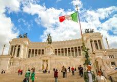 Vittoriano pałac architektura przy Roma Obrazy Royalty Free