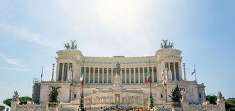 Vittoriano pomnik w piazza Venezia, Rzym Zdjęcie Stock