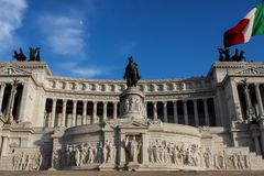 Vittoriano in Rome, Italy Royalty Free Stock Photography