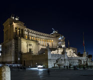 Vittoriano rome by night Altar of the Fatherland Royalty Free Stock Photography