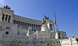 Vittoriano, Rome. A view of the monument to Vittorio Emanuele II, with the Altar to the Fatherland, Rome, Italy Royalty Free Stock Images