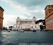 Vittoriano: sławny zabytek w Rzym obrazy royalty free