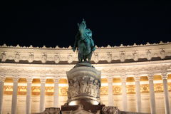 Vittoriano 's nachts - Rome Stock Afbeeldingen