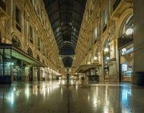 Vittorio Emanuele da galeria do domo da praça de Milão fotografia de stock