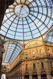 Vittorio Emanuele do Galleria em Milão Fotografia de Stock Royalty Free