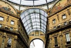 Vittorio Emanuele Galerie in Mailand Lizenzfreies Stockbild