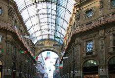 Vittorio Emanuele Galleria in Milan, Italy royalty free stock images