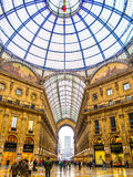 Vittorio Emanuele Galleries, Milão Fotografia de Stock Royalty Free