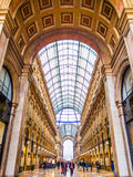 Vittorio Emanuele Galleries, Milaan Stock Afbeeldingen