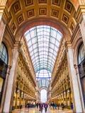 Vittorio Emanuele Galleries Milan Arkivbilder