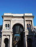Vittorio Emanuele gallery, entrance facade Royalty Free Stock Photography