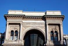 Vittorio Emanuele gallery, facade details stock image