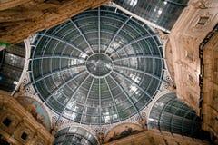 Vittorio Emanuele Gallery - kathedraalvierkant Royalty-vrije Stock Fotografie