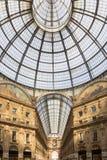 Vittorio Emanuele Gallery in Milaan, Italië stock foto