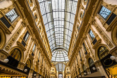 Vittorio Emanuele gallery in Milan Stock Photos