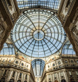 Vittorio Emanuele Gallery in Milan, Italy. Stock Photography