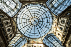 Vittorio Emanuele Gallery in Milan, Italy. Stock Photos