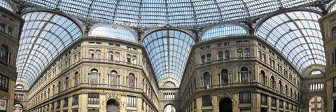 Vittorio Emanuele Gallery at Naple Stock Image